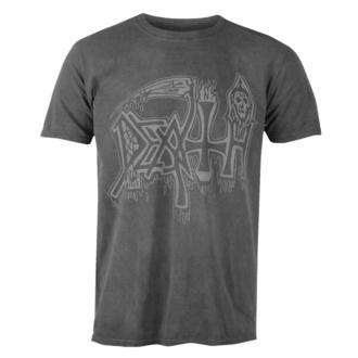 T-shirt pour hommes DEATH - ARGENT LOGO - NOIR - PLASTIC HEAD, PLASTIC HEAD, Death