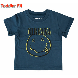 T-shirt pour enfants Nirvana - Inverse Smiley - ROCK OFF, ROCK OFF, Nirvana