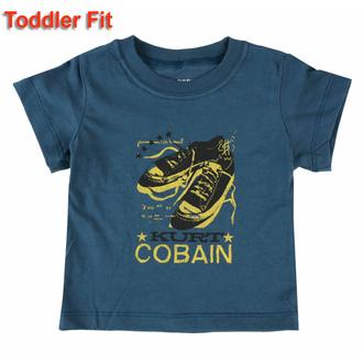 T-shirt pour enfants Nirvana - Kurt Cobain - NAVY - ROCK OFF, ROCK OFF, Nirvana
