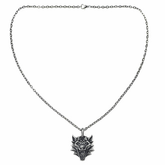 Collier à pendentifs VIKINGS WOLF NORDIC MYTHOLOGIE PENDANT, Leather & Steel Fashion