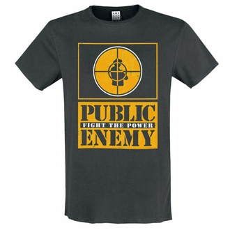 t-shirt pour homme PUBLIC ENEMY - YELLOW FIGHT THE POWER - CHARCOAL - AMPLIFIED, AMPLIFIED, Public Enemy