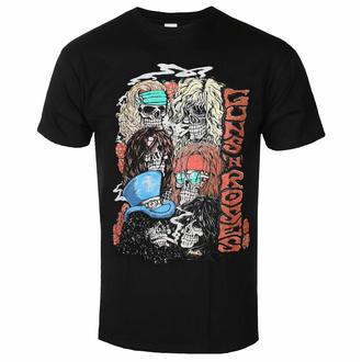 T-shirt pour homme Guns N' Roses - Stacked Skulls - Noir - ROCK OFF, ROCK OFF, Guns N' Roses