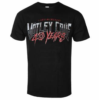 T-shirt pour homme Mötley Crüe - 40 Years F&B - Noir - ROCK OFF, ROCK OFF, Mötley Crüe