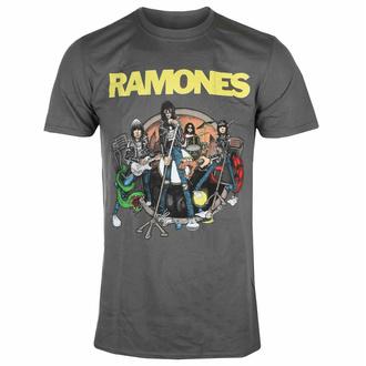 T-shirt pour homme Ramones - Road To Ruin - Charcoal - ROCK OFF, ROCK OFF, Ramones