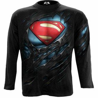 t-shirt pour homme manche longue SPIRAL - Superman - RIPPED - Noir, SPIRAL, Superman
