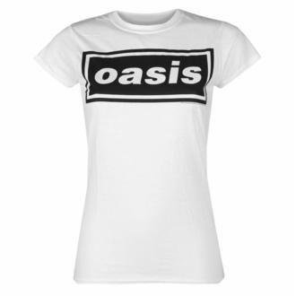 t-shirt pour femmes Oasis - Decca Logo - blanc, NNM, Oasis