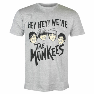 t-shirt pour homme Monkees - Hey Hey! - GRIS - ROCK OFF, ROCK OFF, Monkees