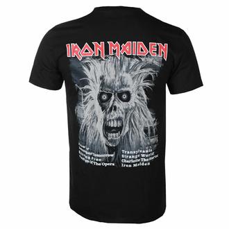 t-shirt pour homme Iron Maiden - First Album Tracklist V3 BL - ROCK OFF, ROCK OFF, Iron Maiden
