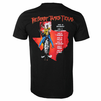 t-shirt pour homme Iron Maiden - The beast Tames Texas BL - ROCK OFF, ROCK OFF, Iron Maiden