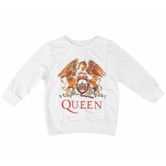 T-shirt à manches longues Queen pour enfants- Classic WHT - ROCK OFF, ROCK OFF, Queen