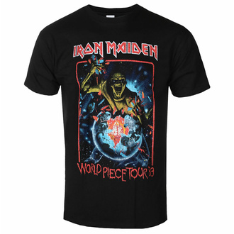 t-shirt pour homme Iron Maiden - World Piece Tour '83 V1 BL - ROCK OFF, ROCK OFF, Iron Maiden