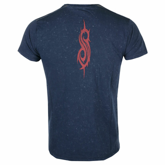 t-shirt pour homme Slipknot - Logo Snow Wash NAVY - ROCK OFF, ROCK OFF, Slipknot