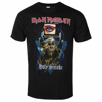 t-shirt pour homme Iron Maiden - Holy Smoke Space Triangle BL - ROCK OFF, ROCK OFF, Iron Maiden