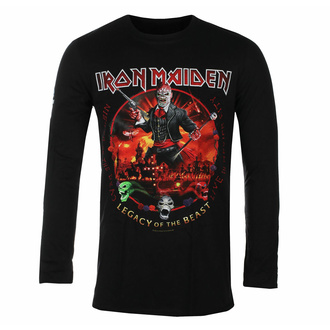 t-shirt pour homme manches longues Iron Maiden -Nights Of The dead BL - ROCK OFF, ROCK OFF, Iron Maiden
