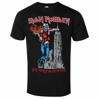 t-shirt pour homme Iron Maiden - The Beast in New York BL - ROCK OFF, ROCK OFF, Iron Maiden