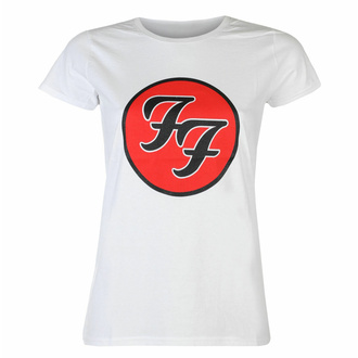 t-shirt pour femmes Foo Fighters - Logo WHT - ROCK OFF, ROCK OFF, Foo Fighters