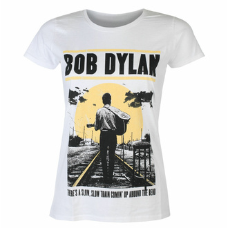 t-shirt pour femmes Bob Dylan - Slow Train WHT - ROCK OFF, ROCK OFF, Bob Dylan