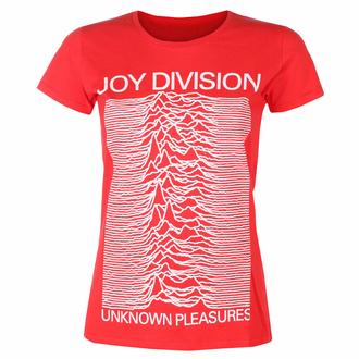 t-shirt pour femmes Joy Division - Unknown Pleasures FP ROUGE - ROCK OFF, ROCK OFF, Joy Division