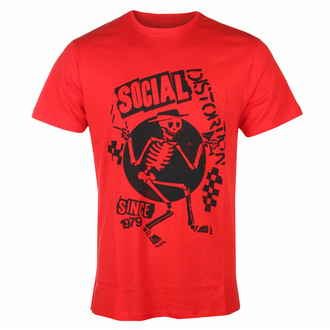 t-shirt pour homme Social Distortion - Speakeasy Checkerboard ROUGE - ROCK OFF, ROCK OFF, Social Distortion