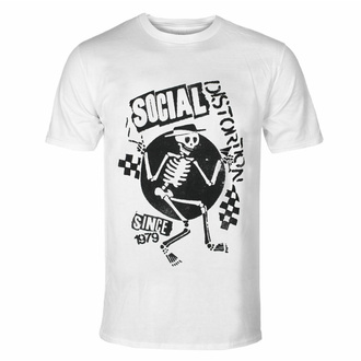 t-shirt pour homme Social Distortion - Speakeasy Checkerboard WHT - ROCK OFF, ROCK OFF, Social Distortion