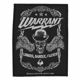applique Warrant - Louder Harder Faster - ROCK OFF, ROCK OFF, Warrant
