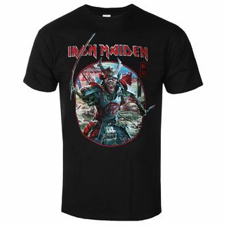 t-shirt pour homme Iron Maiden - Eddie Warrior Circle BL - ROCK OFF - IMTEE137MB