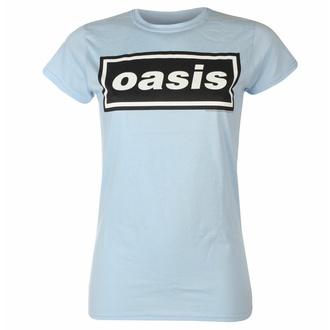 t-shirt pour femmes Oasis - Decca Logo Sky Blue - RTOASGSSBDE
