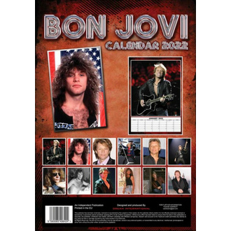 Calendrier 2022 - BON JOVI, NNM, Bon Jovi