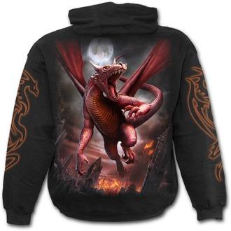 sweat-shirt avec capuche pour hommes - AWAKE THE DRAGON - SPIRAL, SPIRAL