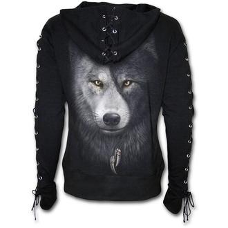sweat-shirt avec capuche pour femmes - WOLF CHI - SPIRAL, SPIRAL