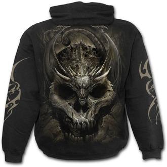 sweat-shirt avec capuche pour hommes - DRACO SKULL - SPIRAL, SPIRAL