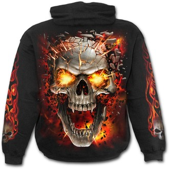 sweat-shirt avec capuche pour hommes - SKULL BLAST - SPIRAL