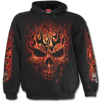 sweat-shirt avec capuche pour hommes - SKULL BLAST - SPIRAL, SPIRAL