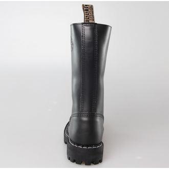 bottes en cuir pour femmes - STEEL - 135/136 Black