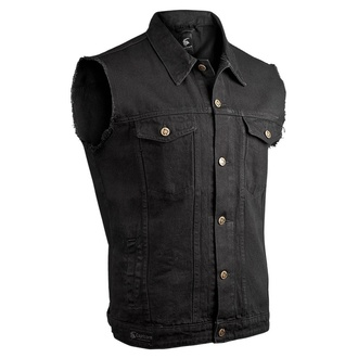 Gilet hommes CAPRICORN ROCKWEAR - black with frayed arms, CAPRICORN ROCKWEAR
