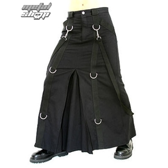 kilt Aderlass - Chain Skirt Denim Noire, ADERLASS