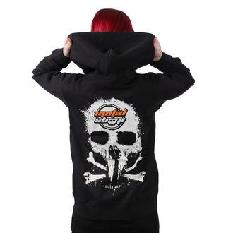 sweat-shirt avec capuche pour femmes - Black - METALSHOP - MS012