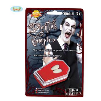 Dents de vampire avec colle