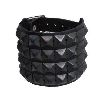 bracelet Pyramides 4, BLACK & METAL