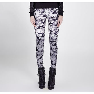 Pantalon (Leggings) PUNK RAVE - Skulls, PUNK RAVE