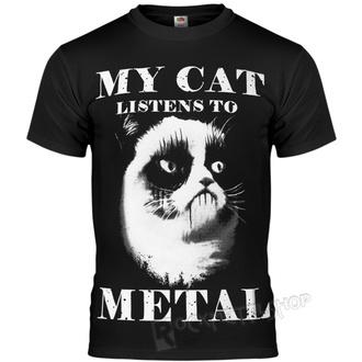 t-shirt hardcore pour hommes - MY CAT LISTENS TO METAL - AMENOMEN, AMENOMEN