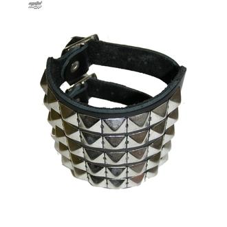 bracelet Pyramides 5, BLACK & METAL