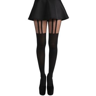 Collants PAMELA MANN - 2 Stripe Suspender - Noir, PAMELA MANN