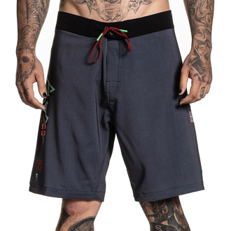 Short (maillots de bain) pour homme SULLEN - RIGIONI SKULL - GRIS / SARCELLE, SULLEN