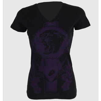 tee-shirt street pour femmes - Tiger Cross One color V-neck - SOMETHING SACRED - V-neck, SOMETHING SACRED