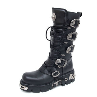 bottesen cuir - 5-Buckle Boots (402-S1) Black - NEW ROCK, NEW ROCK
