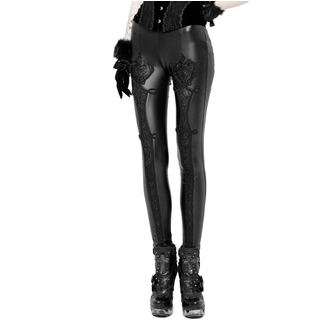 Pantalon (Leggings) pour femme PUNK RAVE - Black Soiree Gothic, PUNK RAVE