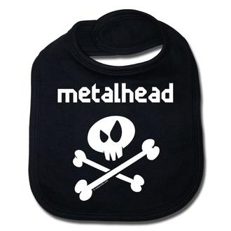 Bavoir Metalhead blanc - black - Metal-Kids, Metal-Kids