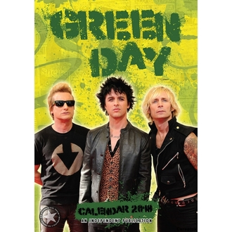 Calendrier 2018 GREEN DAY, NNM, Green Day