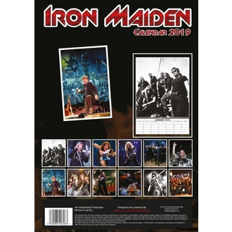 Calendrier pour an 2019 - Iron Maiden, NNM, Iron Maiden